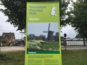 Informatiezuil van een TOP in Obdam Westfriesland