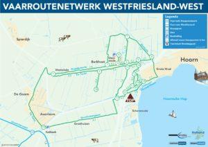 Vaarroutenetwerk Koggenland Westfriesland kano fluisterboot schuit